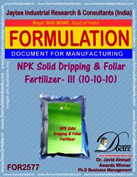 NPK Solid Dripping and Foliar Fertilizer-III (10-10-10)