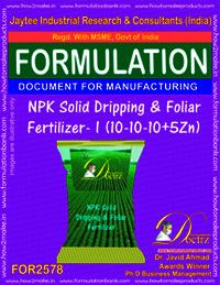NPK Solid Dripping and Foliar Fertilizer-I (10-10-10+5Zn)