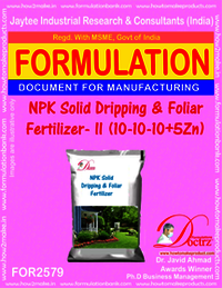 NPK Solid Dripping and Foliar Fertilizer-II (10-10-10+5Zn)