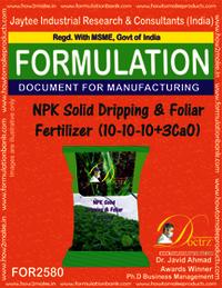 NPK Solid Dripping & Foliar Fertilizer (10-10-10+3Cao)