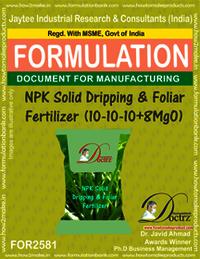 NPK Solid Dripping & Foliar Fertilizer (10-10-10+8Mgo)