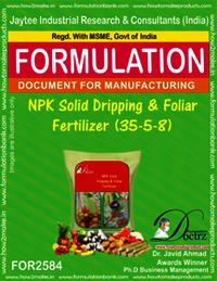 NPK Solid Dripping and Foliar Fertilizer (35-5-8)