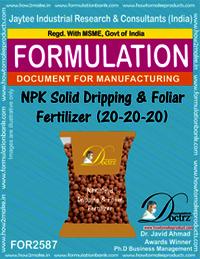 NPK Solid Dripping & Foliar Fertilizer (20-20-20)