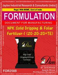 NPK Solid Dripping & Foliar Fertilizer-I (20-20-20+TE)