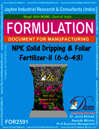 NPK Solid Dripping & Foliar Fertilizer-II (6-6-43)