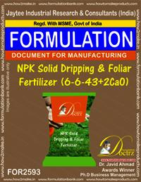 NPK Solid Dripping & Foliar Fertilizer (6-6-43+2CaO)