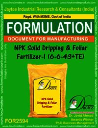 NPK Solid Dripping & Foliar Fertilizer-I (6-6-43+TE)