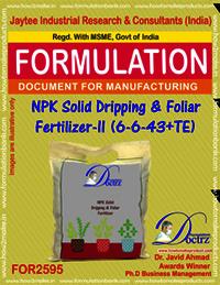 NPK Solid Dripping & Foliar Fertilizer-II (6-6-43+TE)