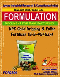 NPK Solid Dripping & Foliar Fertilizer (5-5-45+5Zn)