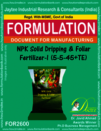 NPK Solid Dripping & Foliar Fertilizer-I (5-5-45+TE)