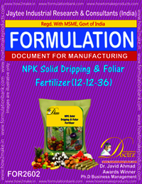 NPK Solid Dripping & Foliar Fertilizer (12-12-36)