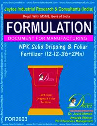 NPK Solid Dripping & Foliar Fertilizer (12-12-36+2Mn)