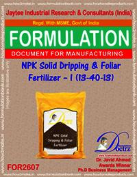 NPK Solid Dripping & Foliar Fertilizer-I (13-40-13)