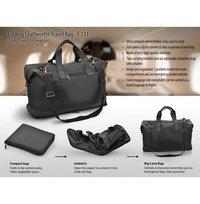Folding Leatherette Travel Bag (Flight Cabin Size Compliant