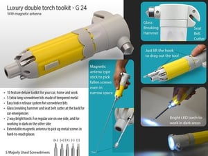 Luxury Double Torch Toolkit With Magnetic Antenna