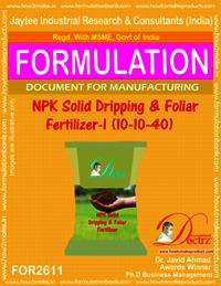NPK Solid Dripping & Foliar Fertilizer-I (10-10-40)