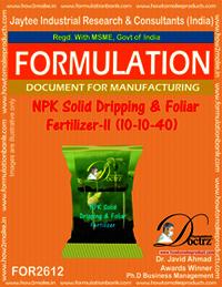 NPK Solid Dripping & Foliar Fertilizer-II (10-10-40)