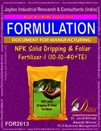 NPK Solid Dripping & Foliar Fertilizer-I (10-10-40+TE)