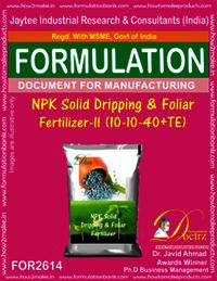 NPK Solid Dripping & Foliar Fertilizer-II (10-10-40+TE)