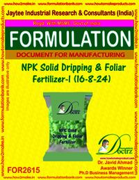NPK Solid Dripping & Foliar Fertilizer-I (16-8-24)