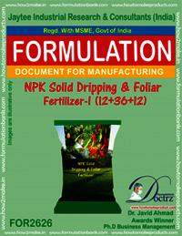 NPK Solid Dripping & Foliage Fertilizer-I (12-36-12)