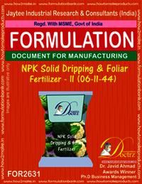 NPK Solid Dripping & Foliage Fertilizer-II (06-11-44)