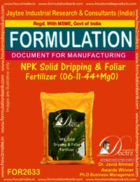 NPK Solid Dripping & Foliage Fertilizer (06-11-44+MgO)