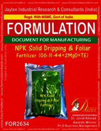 NPK Solid Dripping & Foliage Fertilizer (06-11-44+2MgO+TE)