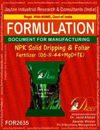 NPK Solid Dripping & Foliage Fertilizer (06-11-44+MgO+TE)