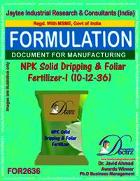 NPK Solid Dripping & Foliage Fertilizer-I 10-12-36)