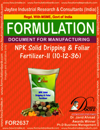 NPK Solid Dripping & Foliage Fertilizer-II 10-12-36)