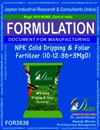 NPK Solid Dripping & Foliage Fertilizer (10-12-36+3MgO)
