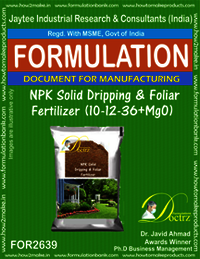 NPK Solid Dripping & Foliage Fertilizer (10-12-36+MgO)