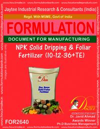NPK Solid Dripping & Foliage Fertilizer (10-12-36+TE)