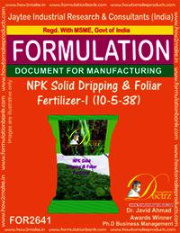 NPK Solid Dripping & Foliage Fertilizer-I (10-5-38)