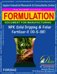 NPK Solid Dripping & Foliage Fertilizer-II (10-5-38)