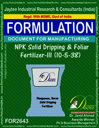 NPK Solid Dripping & Foliage Fertilizer-III (10-5-38)