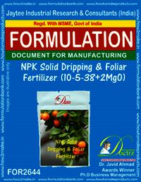 NPK Solid Dripping & Foliage Fertilizer (10-5-38+2MgO)