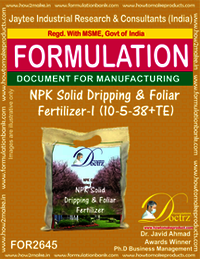 NPK Solid Dripping & Foliage Fertilizer-I (10-5-38+TE)