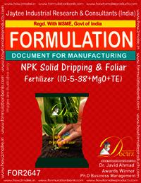 NPK Solid Dripping & Foliar Fertilizer (10-5-38+MgO+TE)