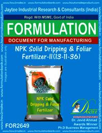 NPK Solid Dripping & Foliar Fertilizer-II (13-11-36)