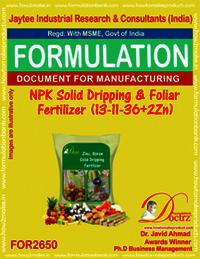 NPK Solid Dripping & Foliar Fertilizer (13-11-36+2Zn)