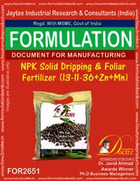 NPK Solid Dripping & Foliar Fertilizer (13-11-36+Zn+Mn)