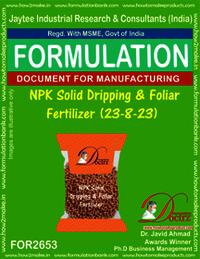 NPK Solid Dripping & Foliar Fertilizer (23-8-23)