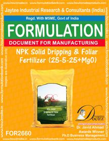 NPK Solid Dripping & Foliar Fertilizer (25-5-25+MgO)