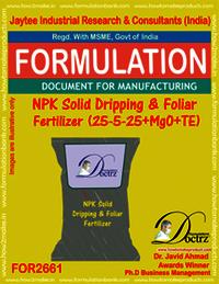 NPK Solid Dripping & Foliar Fertilizer (25-5-25+MgO+TE)