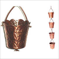 Rain Chain In Embossed Leaf Garden Item