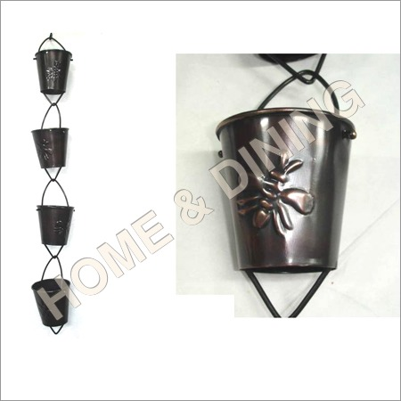 Rain Chain Bee Closup Garden Item