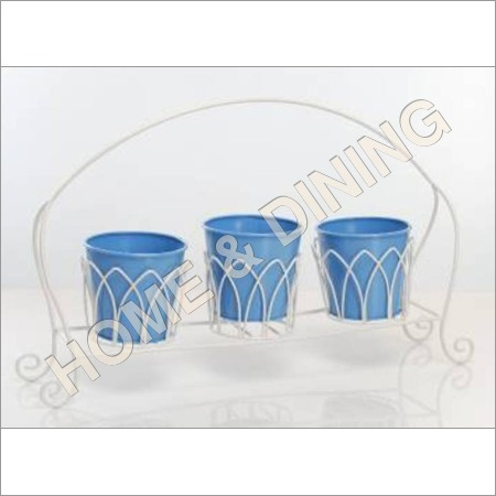 Garden Planter Hanging Set Of 3 Blue
