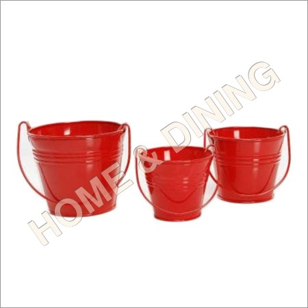Garden Planter Set Of 3 Red Color
